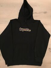 Original Supreme Hoodie - Gonz Box Logo Hooded Sweatshirt - Black Schwarz - Gr L