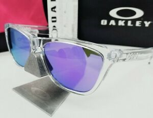 OAKLEY polished clear/violet iridium FROGSKINS OO9013 24-305 sunglasses NEW!