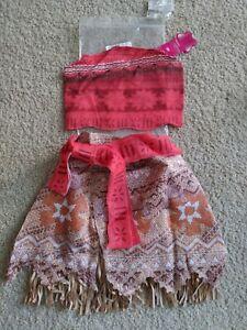 Disney Moana Girls Adventure Outfit Costume NEW