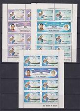1981 Royal Wedding Charles & Diana MNH Stamp Sheetlets Seychelles