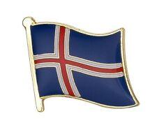 ICELAND - Flag Lapel Pin Badge  High Quality Gloss Enamel