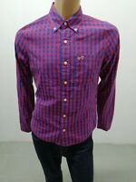 Camicia HOLLISTER Uomo Shirt Man Chemise Homme Taglia Size L Cotone 8322