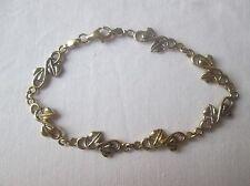 Ladies 9ct Yellow & White Gold Bracelet.