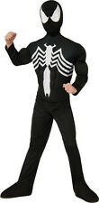 Kids Black Spider-Man Venom Deluxe Costume Marvel Superhero Size Small 4-6