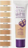 Rimmel London Stay Matte Liquid Mousse Foundation 30 mls choose your colour