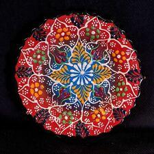 Hand Painted Turkish Iznik Tulip & Floral Pattern 5 Inch Ceramic Plate