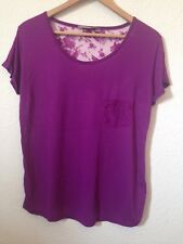 A wear Plum Purple TShirt With Lace Back, Size 12 <BC253
