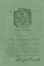Invito del Barone Perfetti Ricasoli Festa Campestre fuori Porta alla Croce 1870