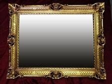 Espejo de Pared Barroco en dorado 90x70 CON ANTIGUO ORNAMENTACIONES salonspiegel