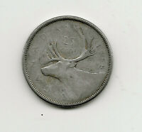World Coins - Canada 25 Cents 1955 Silver Coin KM# 52