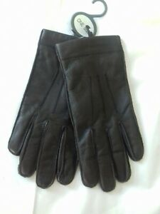 brown leather gloves one size BNWT