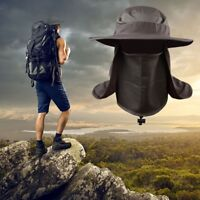 Hiking Fishing Hat Outdoor Full Face Neck Cover Protector Flap Sun Bucket Cap US