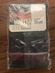 Martha Steward Madras Plaid Standard Sham