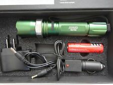 On Sale 800 LM 50W LED rechargable Torch Zoomable flashlight 18650+charger ZG60