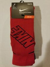 Youth Nike Crew 3 Pack Socks Multiple Colors SX4715-960 $16.00 red white black
