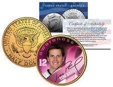 Breast Cancer Awareness TOM BRADY NFL JFK Half Dollar US 24K Gold Plated US Coin