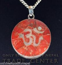 "Amulett Anhänger ""Top Qualität"" Schutzamulett Koralle Silber Nepal Buddha 18"
