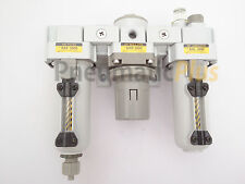 "PneumaticPlus Heavy Duty FRL Air Filter Regulator Lubricator Combo 3/8"" NPT"