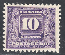 Canada 10c Postage Due Second Series, Scott J10, VF MH, catalogue - $160