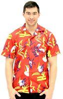 Adult Movie Scarface Tony Montana Hawaiian Button Up Costume T-Shirt Tee