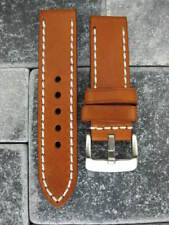 24mm COW LEATHER STRAP Brown Watch Band 24 mm Buckle Pam 1950 Pam 104 LBR