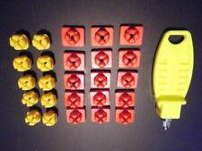 Playmobil  System x  10 Verbinder gelb und 15 Verbinder rot + 1 Schlüssel (3761)