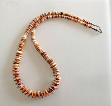 """Santo Domingo Graduated Spiny Oyster Sterling Necklace 20"""""""