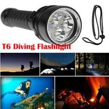 Professionl Diving Torch 3x XML T6 LED Waterproof Scuba Underwater Flashlight