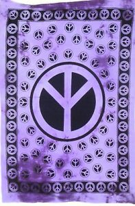 "40*30"" Tie Dye Wall Hanging Y Peace Sign Bohemian Dorm Decor Tapestry Hippie Art"