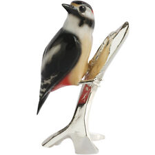 Natures Realm 1502 Spotted Woodpecker Bird Figurine