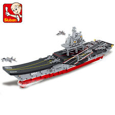 Sluban B0399 Chinese Military Aircraft Carrier Liaoning ModelBuilding Block Toy