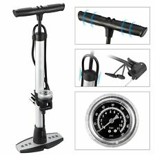 High Pressure 160Psi Bicycle Floor Pump Fits Schader and Presta Valve with Gauge
