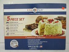 Usa Pan Commercial Grade 5 Piece Bakeware Set - Heavy Steel / Nonstick - Sss 173