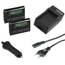 2x Batteria Patona Premium + caricabatteria casa/auto per Sony HDR-AS10