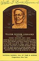 Buck Leonard Autographed/Signed Hall of Fame Plaque