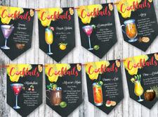 Ricette COCKTAIL BAR FESTA CELEBRAZIONE Bunting/Banner & Nastro-Set B