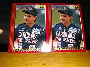 Two (2) Rare Jeff Gordon #1 Carolina Ford Dealers  Maxx Race Cards 1992 RC #50