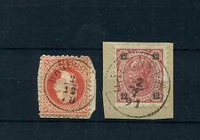 Österreich 2 mal Stempel HAGENBERG auf 2 Briefstücken   (#228)