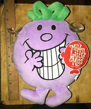 Little Miss Naughty Mr Men plush window sucker new NWT soft toy suction cups