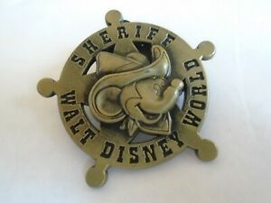 Disney's Mickey Mouse Sheriff Pin Badge Walt Disney World