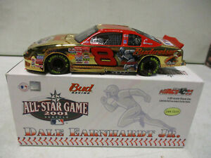 Action 2002 Dale Earnhardt Jr 2001 Budweiser MLB All Star Game Gold 1/32