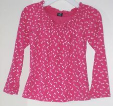 babyGAP Girls Size 4 Years Pink Polka Dot Long Sleeves Tops ~ Shirt