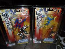2 LOT AFA 9.25 MINT FIGURES & 9.0 DC SUPER HEROES 2006 JUSTICE LEAGUE SUPERMAN +