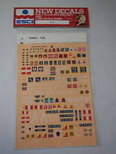 1/72 ESCI 2 GREAT BRITAN TANKS DECALS