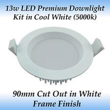 13 Watt White Premium Dimmable LED Downlight Kit in Cool White Light