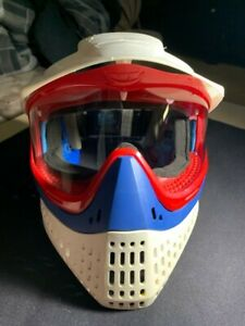 Jt Proflex Mask (Red sparkle) USA New clear lense and strap hydrodipped ears