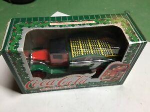 Ertl Hawkeye 1931 Coca Cola Die cast Santa Delivery Truck Coin Bank NIB 1/25
