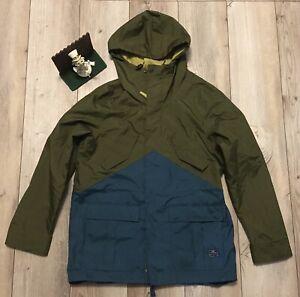 Nike Snowboarding Jacket Shell Size Large Brown Blue... Minimal Wear