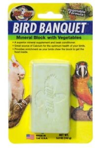 ZOO MED BIRD BANQUET LARGE MINERAL BLOCK WITH VEGETABLES - 142G
