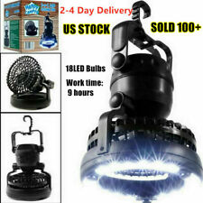 2-in-1 Portable LED Lantern with Fan Camping Emergency Light Multifunction